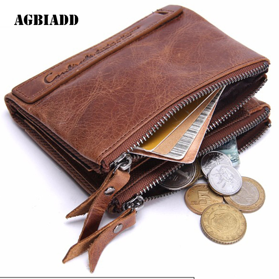 Wallet Men Genuine Leather Men Wallets Credit Card Holder Purse Short Male Money Purses With Coin Bag Zipper Design 119 male brief short design wallets credit card holder men purse
