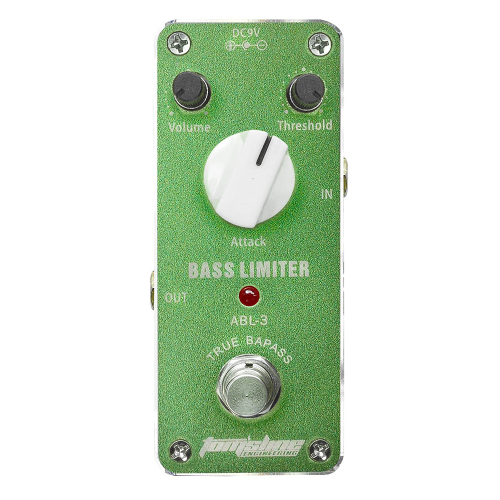 Tomsline ABL-3 Bass Limiter guitar effect pedal Mini Analogue Effect True Bypass AROMA mooer ensemble queen bass chorus effect pedal mini guitar effects true bypass with free connector and footswitch topper