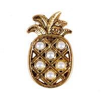 K487 DIY Altın Ananas Charms Metal Yapma Kolye Dikiş Çanta Ayakkabı Giyim Dekoratif Inciler Hooks Perçinler Gürlemesi Craft 20 ADET