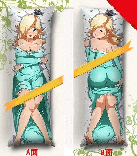 MMF Hot Anime Super Mario Bros Z Dakimakura Charactor Princess Rosalina And Waluigi Body Pillowcase Anime Pillow Cover