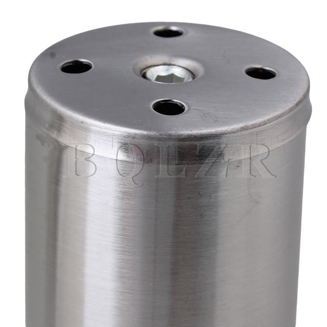 """BQLZR 4 x Stainless Steel Kitchen Round Feet 2"""" Diameter 4"""" Height Furniture Leg"""