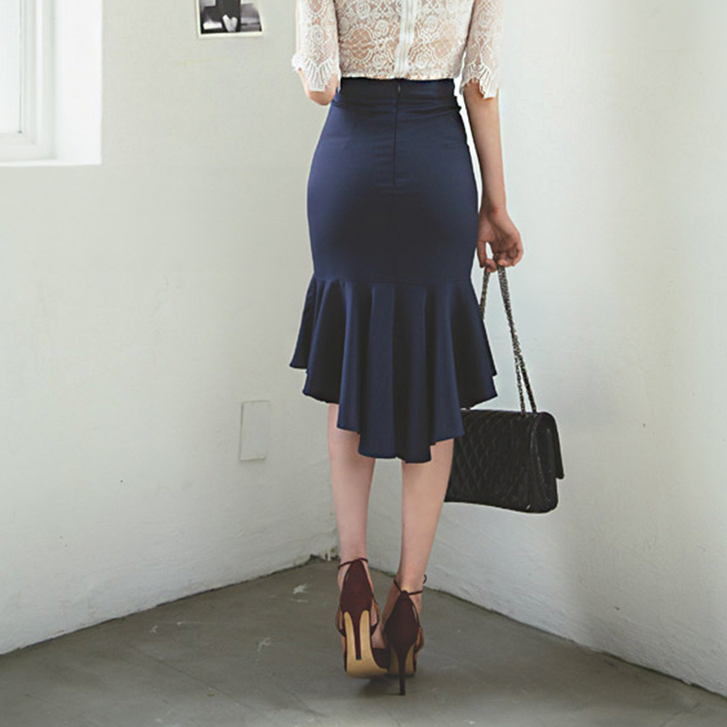 2015 Women Summer Style 6XL 7XL Plus Size Peplum Skirt Midi ...