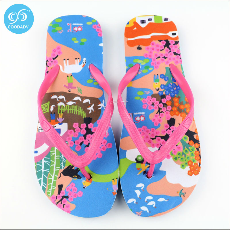 69011db708956 Attraction of custom printed Eva beach flip flops women s fashion trend  look comfortable Welcome to custom -in Slippers from Shoes on  Aliexpress.com ...