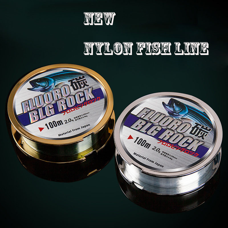 New Arrival Nylon Fishing Line 100M Strong Fly Lure fishing pole Line Multifilament For Fishing Gear