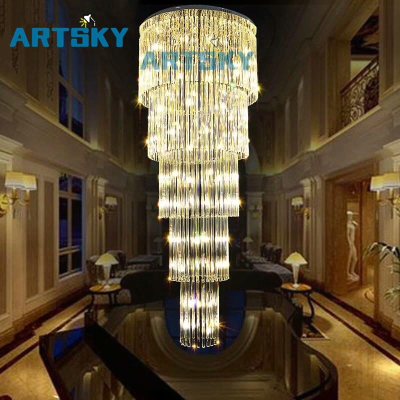 Cristal En Verre Plafond Luminaire Grand lustre de cristal lampe