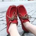 Mulheres de alta qualidade sapatos casuais lace-up sólido macio moda mulher apartamentos sapatos outono Ankle Boots zapatos mujer hot venda DDT90