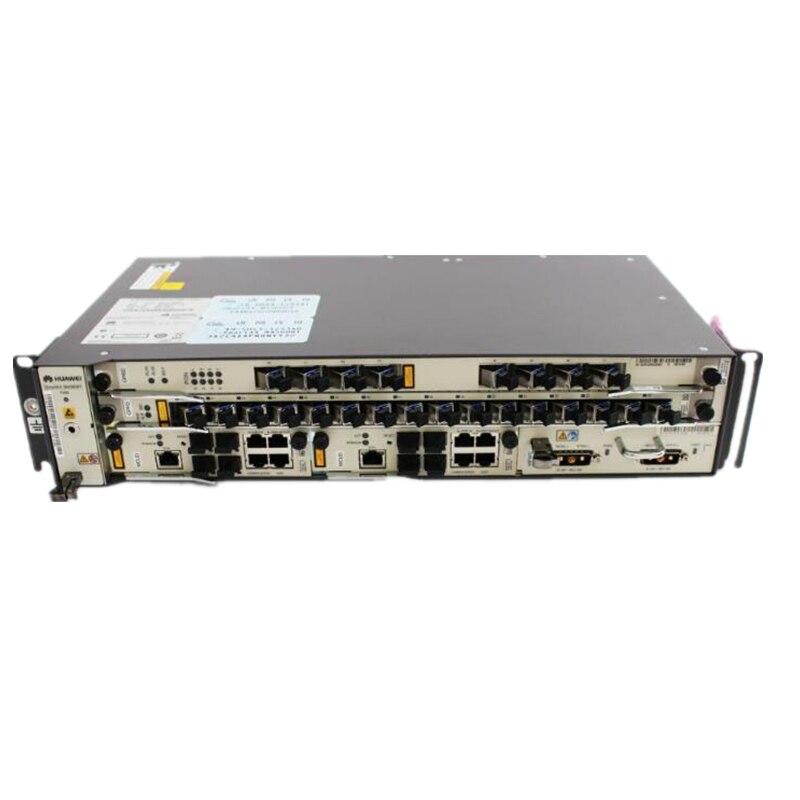 Original nouveau HUAWEI OLT MA5608T GPON avec 1*2 * MCUD 1*2 MPWD AC et carte d'alimentation cc, 1 * GPFD 8*16 Ports GPON avec Module C + C + + SFP