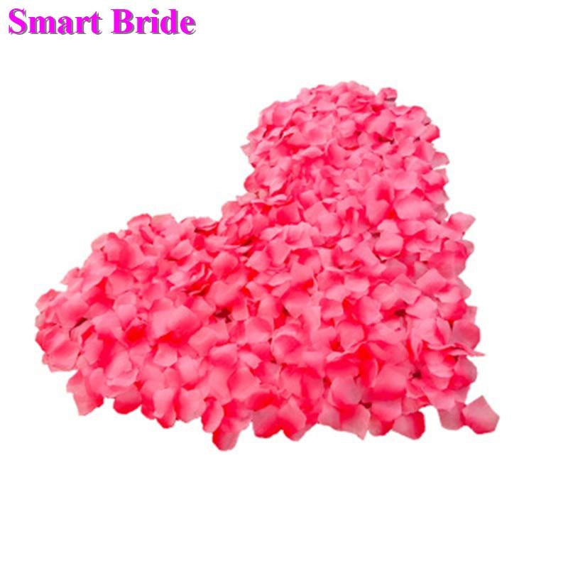 Bride Wedding Pink Rose Petals Purple Romantic Marriage Party Decorations Accessories Silk Artificial Silk Flowers Petal 500 PCS