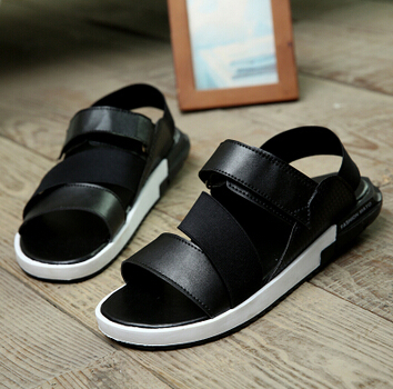 b105fe3be0a Summer sandals for men 2015 y3 male sandals slippers shoes breathable  casual men leather beach sandals flat fashion sandals