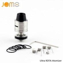 Original Jomotech Dual Coil DIY RDTA Vapor Atomizer Replaceable Glass Ultra RDTA Atomizer VS Tornado RDTA For smok tfv8 Jomo-172