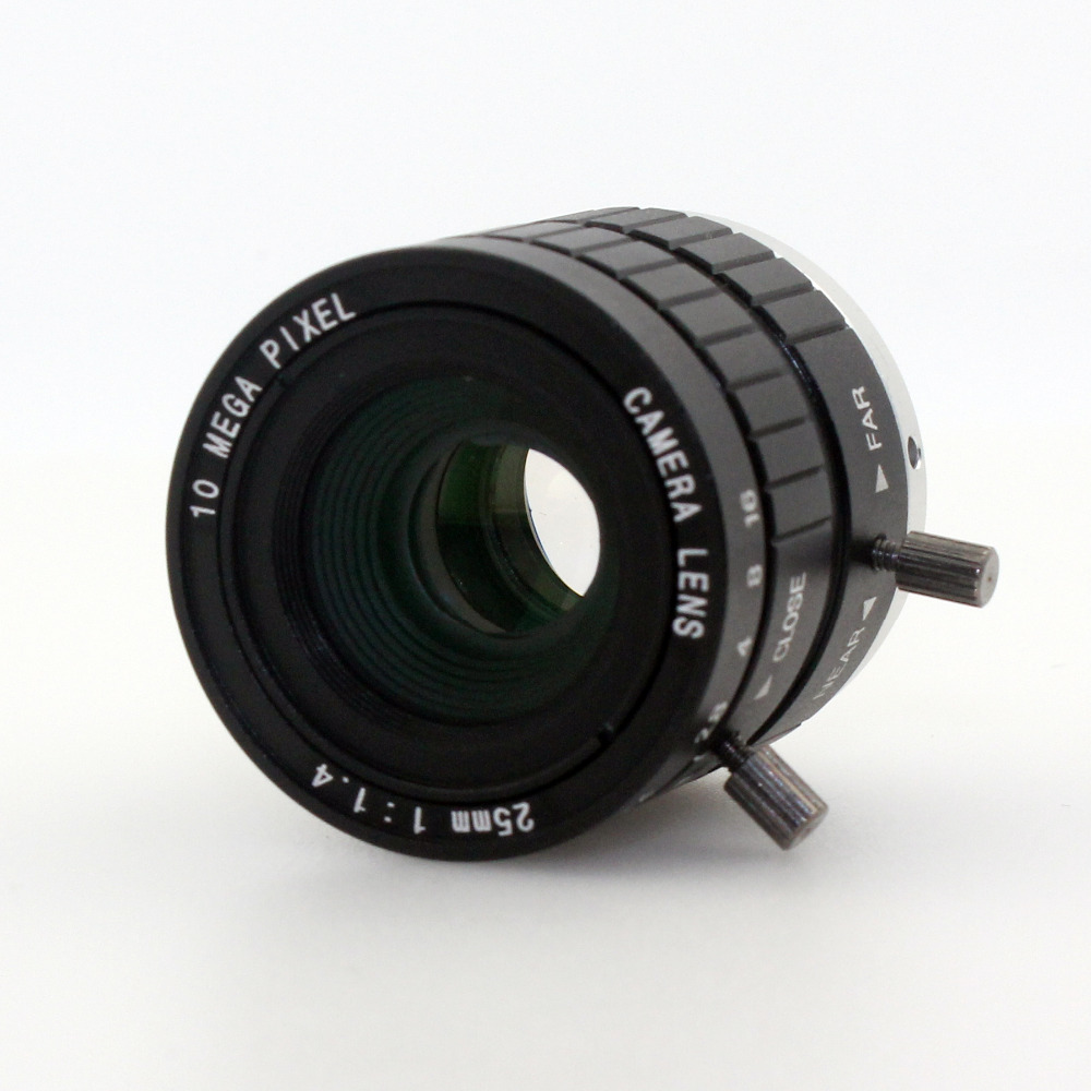 10MP 25mm HD Industrial Camera Fixed Manual IRIS Focus Zoom Lens C Mount CCTV Lens for CCTV Camera or Industrial Microscope-in CCTV Parts from Security & Protection    3