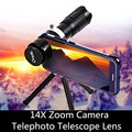 HD 14X 20X телефон камера телескоп телефото линзы со Штативом Держатель Зажим для iPhone Android смартфон зум линзы кемпинг