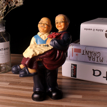 Old Couples Figurines Stutues Love Gifts for Mother Grandma and Grandpa Home Decor Accessories Souvenirs Anniversary Gifts