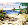 Frameless Picture Seaside Scenery Painting By Numbers Decoration Pictures Hand Painted Canvas Painting Diy Digital Oil