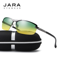 JARA Night Vision Glasses Brand Design Polarized Sunglasses High Grade Metal Day And Night Driving Mirror