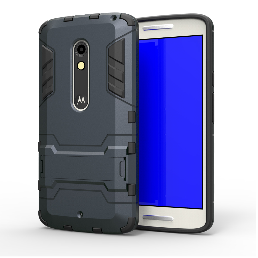 Capa Para For Moto X Play Cover Rubber Armor Hard Plastic Case For Motorola Moto X Play XT1563 XT1561 2015 Phone Holder Stand [
