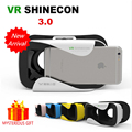 VR Box Shinecon 3.0 III Virtual Reality Goggles 3D Glasses Google Cardboard Helmet 3 D Vrbox Video Game Smartphone Headset Lens
