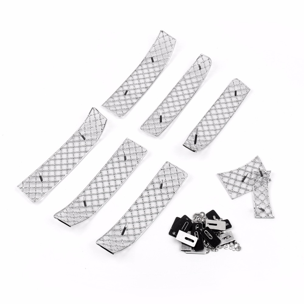 Areyourshop Car Mesh Grille Grill Insert 8PCS for TOYOTA PRADO 2010-2013 Chrome Stainless Steel Car Styling Covers Grille stainless steel front bottom center grille grill mesh cover trims for nissan altima teana 2013 2014