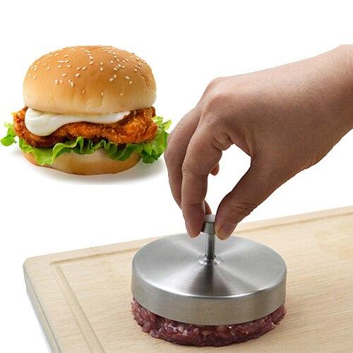Stainless steel Hamburger Press Patties Maker Mold Patty Meat Burger Press Making Hamburger Patties Kitchen Cooking