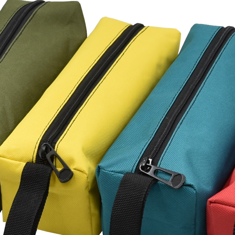 Tool Organizers Oxford Canvas Waterproof Storage Hand Tool Bag Screws Nails Drill Bit Metal Parts Fishing Travel Makeup Organizer Pouch Bag Case
