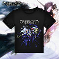 Anime Game Overlord T-shirt Black Polyester T Shirt Summer Active Tshirt Fashion Men Women Brand Clothing Clothes