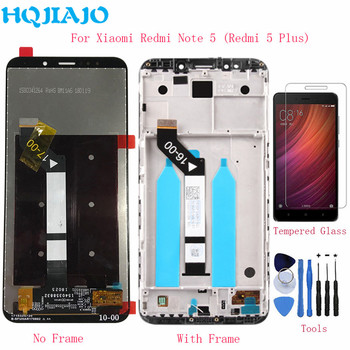 HQJIAJO For Xiaomi Redmi 5 Plus LCD Display Touch Screen Digitizer Frame 10 Points For Redmi Note 5 Global LCDs Screen Original