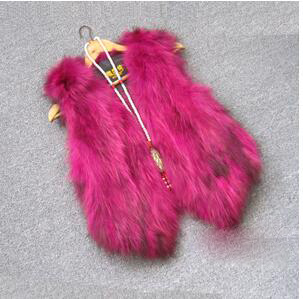 Жилет из натурального меха енота, женский жилет из лисьего меха, короткий дизайн, повседневное пальто из натурального меха, меховая верхняя одежда градиентного цвета - Цвет: 7