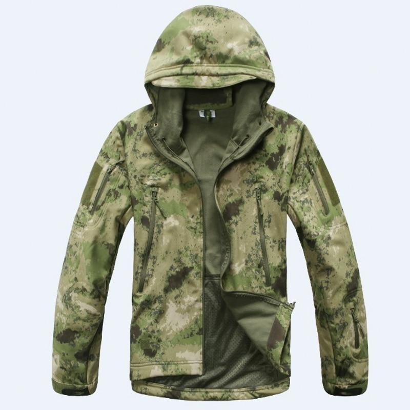 고품질 Lurker 상어 피부 소프트 쉘 TAD V 5.0 군사 전술 재킷 방수 방풍 육군 폭격기 재킷 의류