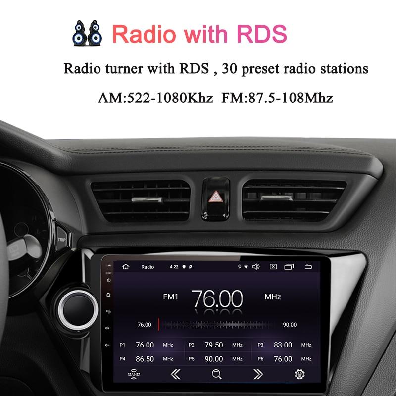 Navivox Android9.0 autoradio 2 Din voiture DVD GPS pour kia k2 Rio 2010 2011 2012 2013 2014 2015 2016 2017 Radio magnétophone Navi - 4