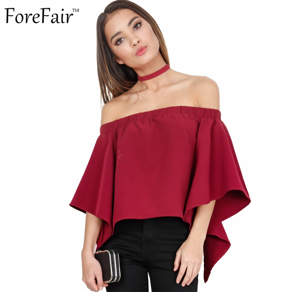 Aliexpress.com : Buy ForeFair new sexy off shoulder blouse ...