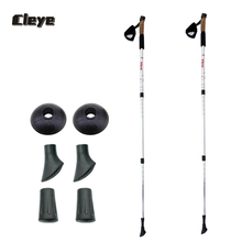 JoShock CLEYE Outdoor Products Cork Straight Grip Handle Trekking Poles/Sticks. Ultralight Aluminum Alloy Material.