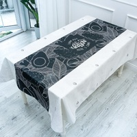 Cotton and linen waterproof tablecloth fabric table cloth literary rectangular coffee table cloth round table cloth 3