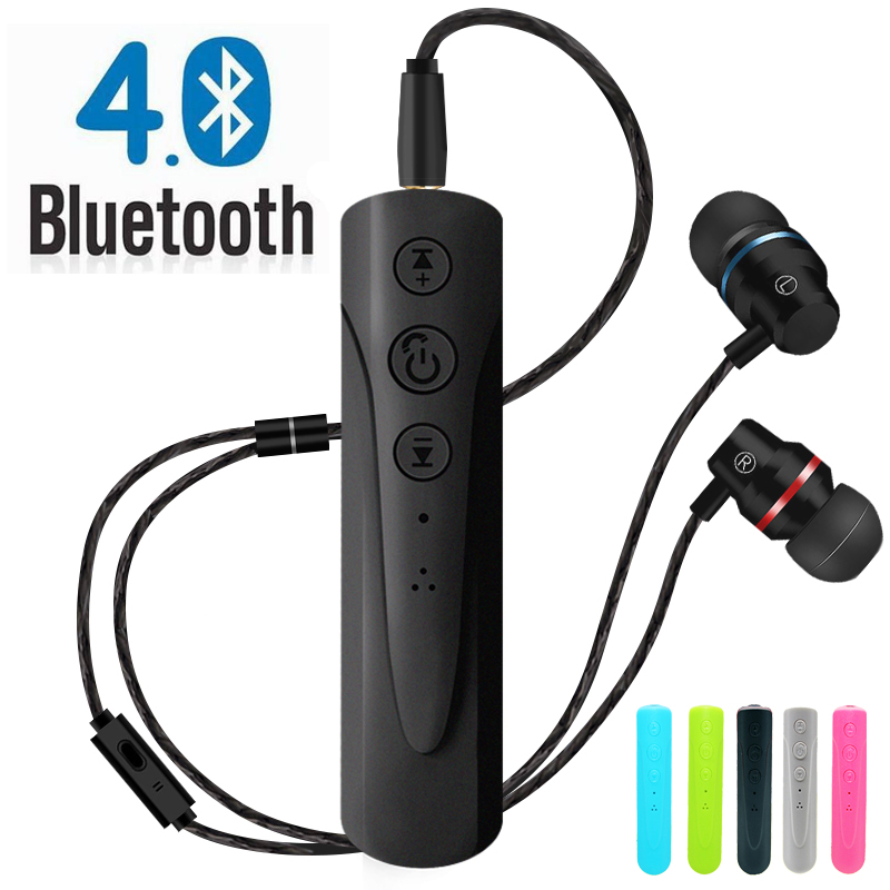 3.5mm Bluetooth Earphone Receiver Kit Handsfree Audio Music AUX Car Bluetooth Headphone Wireless With Microphone