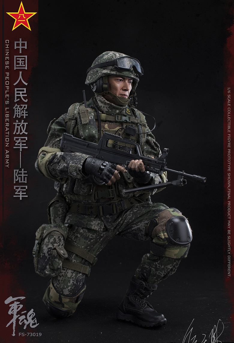 1/6 Scale Chiese People's Liberation Army Soul-Series Army Machine Gunner Military Solider Action Figure Full doll collection 17