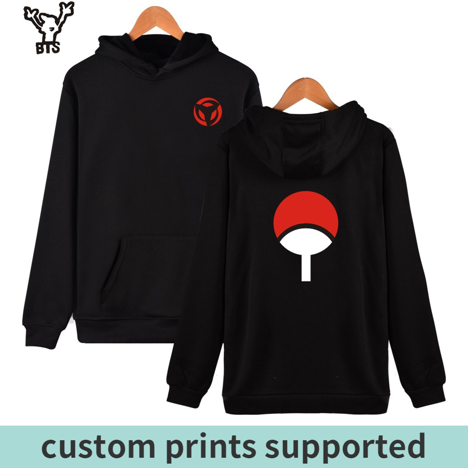 Kpop Naruto Hoodies Sweatshirts Uchiha Syaringan Hooded Boys Hokage Ninjia Men/women Classic Cartoon Printed Clothes 4xl Custom