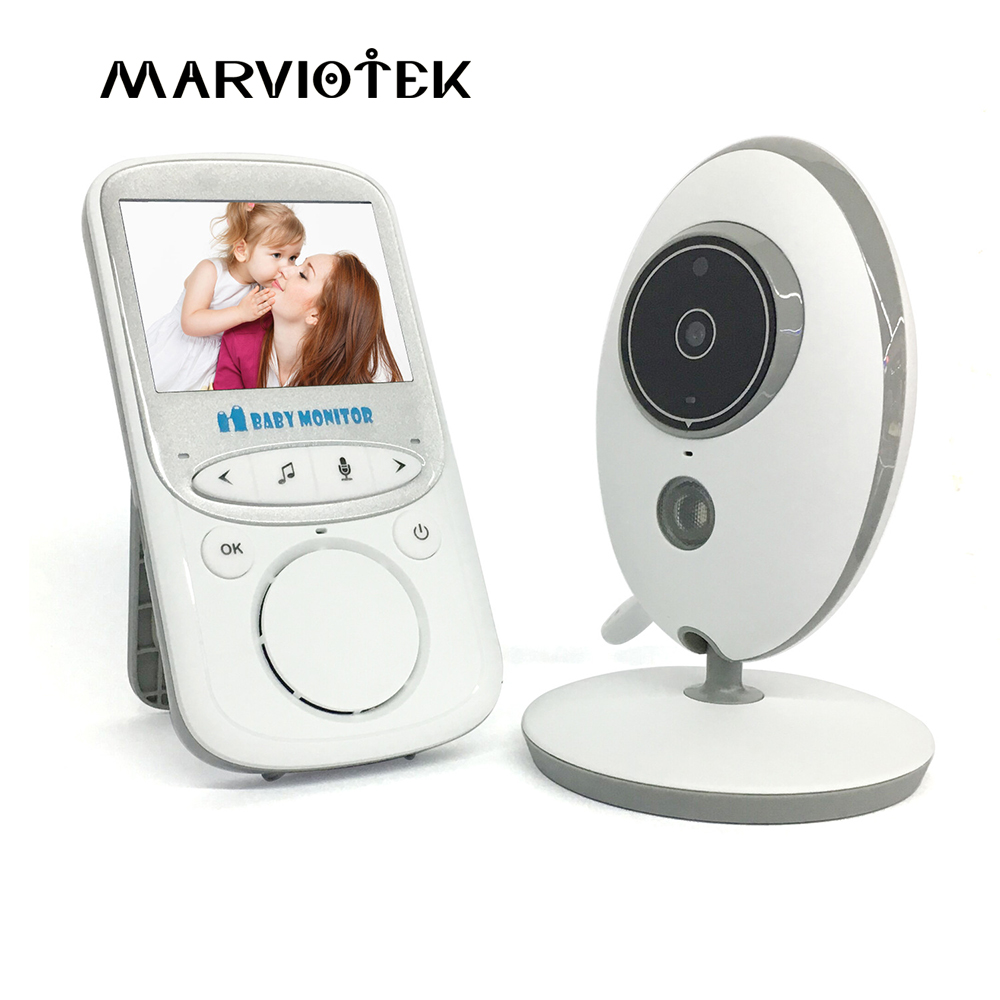 Baby Monitor Wireless LCD Audio Video Radio Nanny Music Intercom IR 24h Portable Baby Camera Baby Walkie Talkie Babysitter VB605 leshp wireless audio video baby monitor 2 4 inch lcd vb605 radio nanny music intercom baby camera night vision babysitter