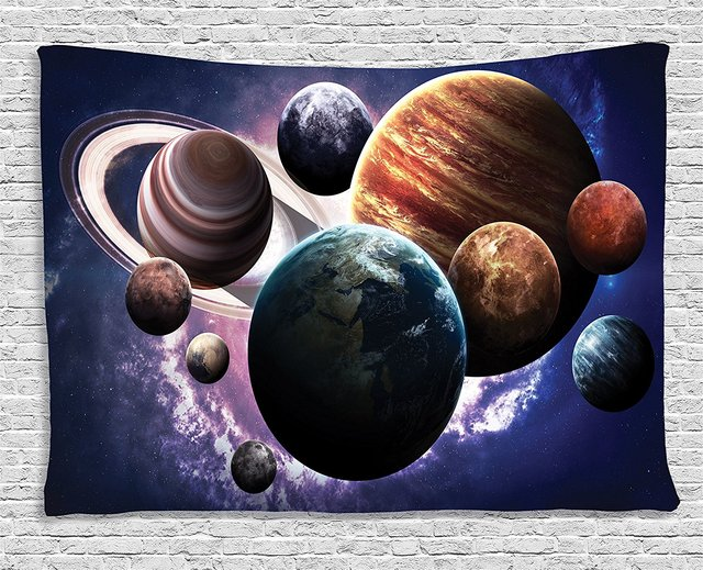 Space Decorations Solar System Planets All Together In Space Mercury