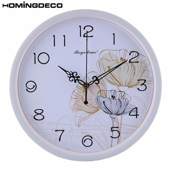 Drop Ship12-Inch Modern Simple  Metal Silent Wall Clock Quarz Mute Clocks For Home Decor 4 Different Styles To Choose