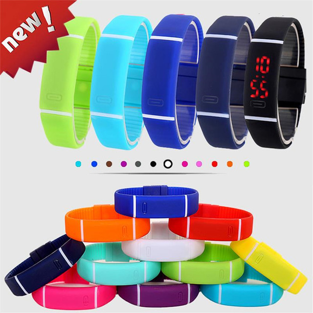 2018 Silicone Led Sports Watches Men Women Dress Children Electronic LED Digital Watch Man Ladies Morning Running Sport Watch