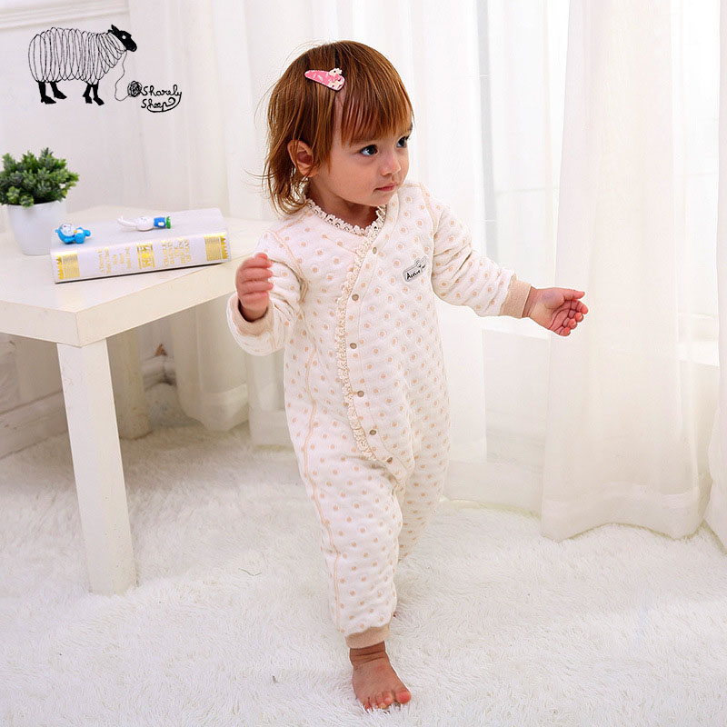 Newborn Baby Girls Cotton Long Sleeve Winter Rompers Clothes Infant Girl Custome Fashion Warm Onesie Jumpsuits Overall Sets