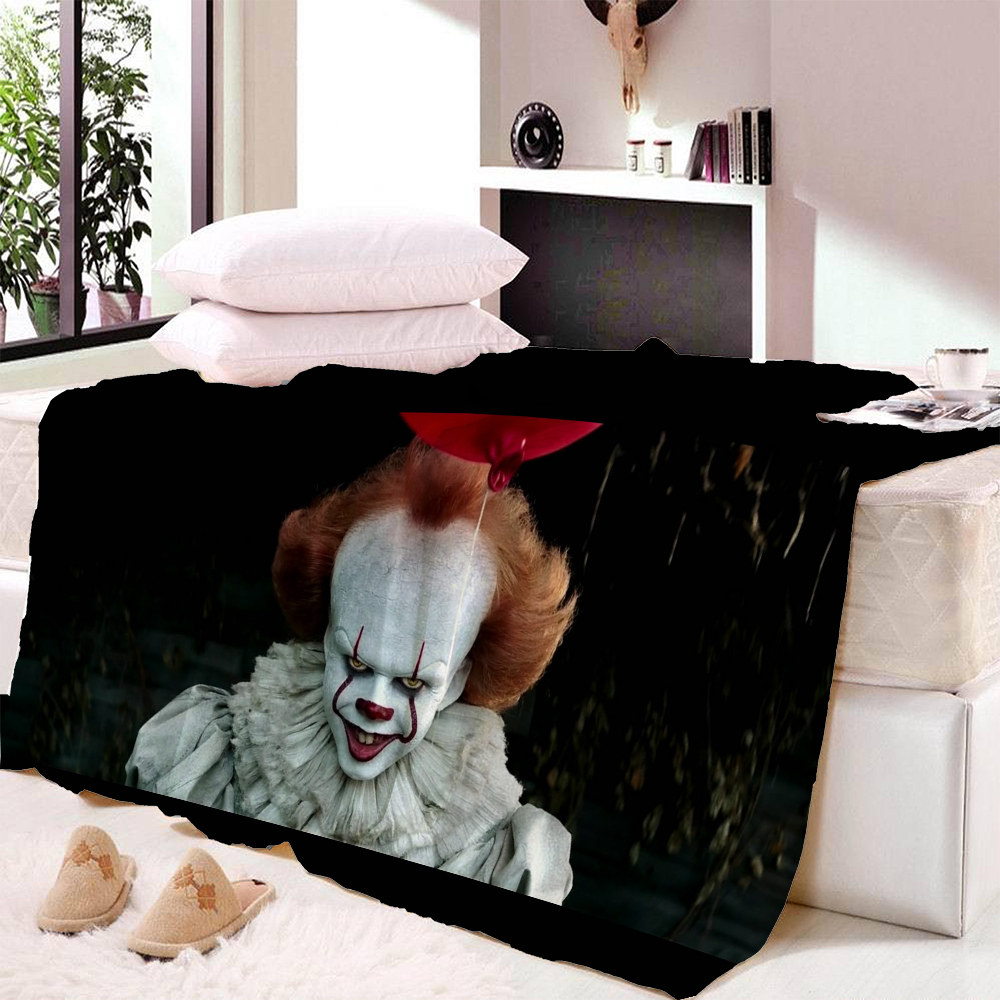 Buy Blanket Stephen King's It Super Soft And Comfortable Velvet Plush Blanket Air Conditioning Sofa Travel Beach Blankets for only 22.37 USD