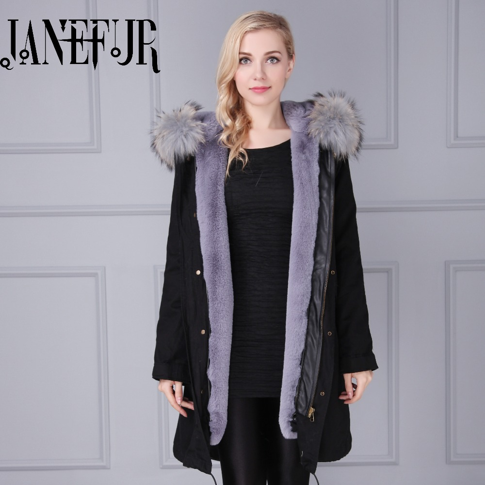 Black coat with grey natural fur collar jacket grey fur inner parka, long style fshion mr&mrs faux fur parka faux rabbit fur brown mr short jacket sleeveless with big raccoon collar fall coat