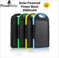 Banco de energia Solar Carregador 5000 mah powerbank bateria Externa Universal Portátil banco de potência de Alta-Capacidade de Sol carregador solar