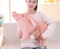 big lovely plush pink pig toy new simulation pig doll about 60cm 2689