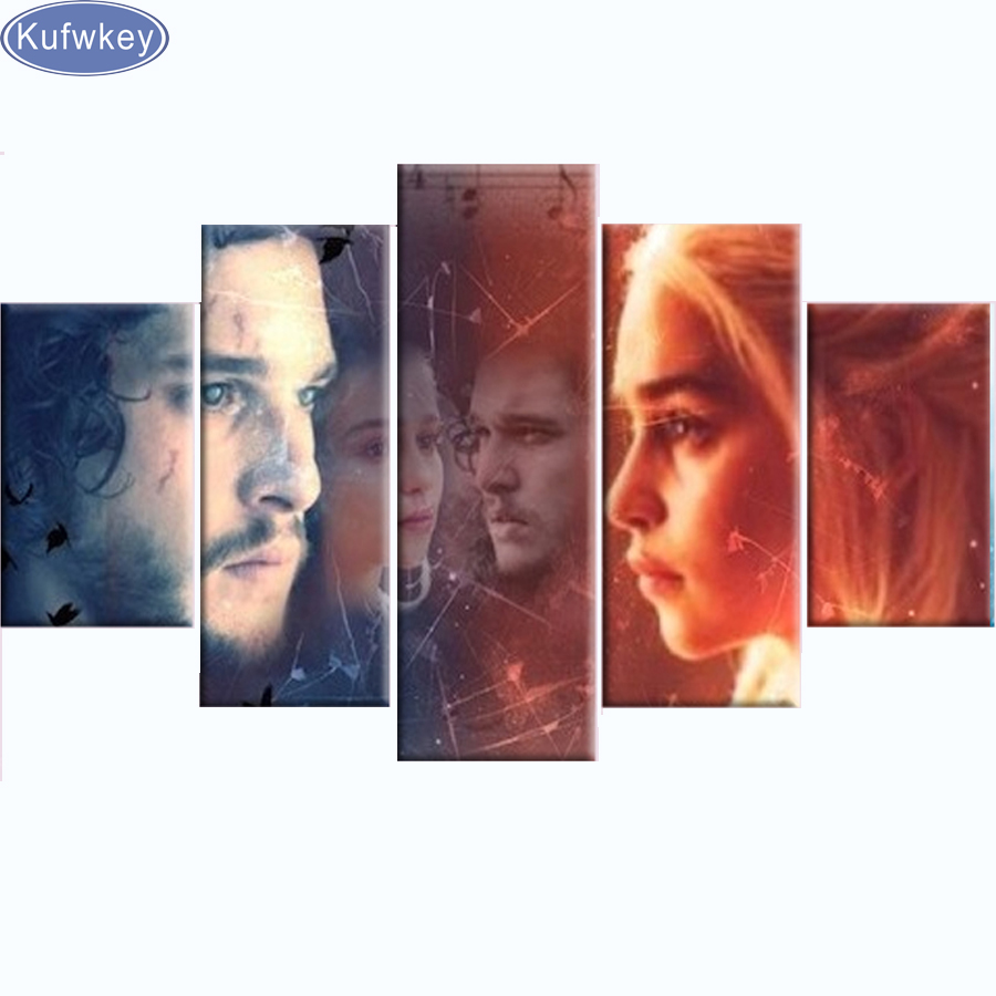 5D diy diamond painting Game Of Thrones characters,cross stitch,full diamond embroidery,diamond mosaic needlework Multi-pictures