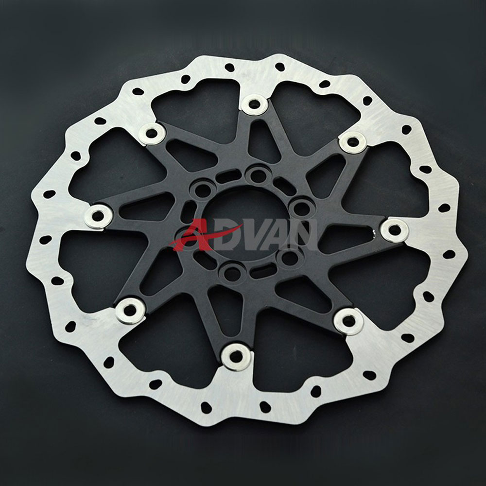 Black CNC Aluminium WAVE BRAKE DISC FRONT Fit for KTM 125 200 390 DUKE 2013-2016 free shipping aluminium wave motorcycle accessories front brake disc rotor disk for ktm 125 200 390 duke 2013 2014
