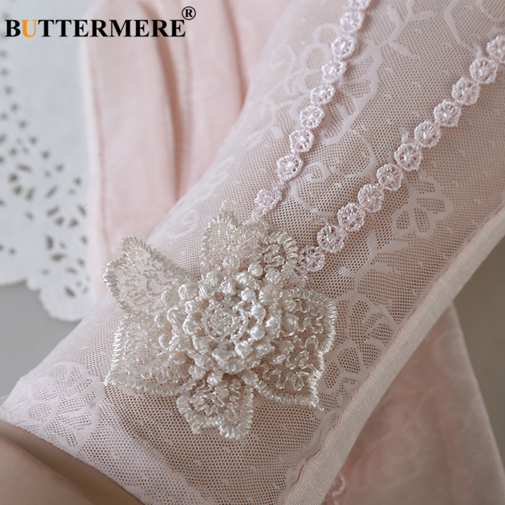 BUTTERMERE Womens Wedding Gloves Sexy Lace Gloves Female Pearl Beige Thin Elegant Opera Ladies Party Spring Autumn Short Mittens in Women 39 s Gloves from Apparel Accessories