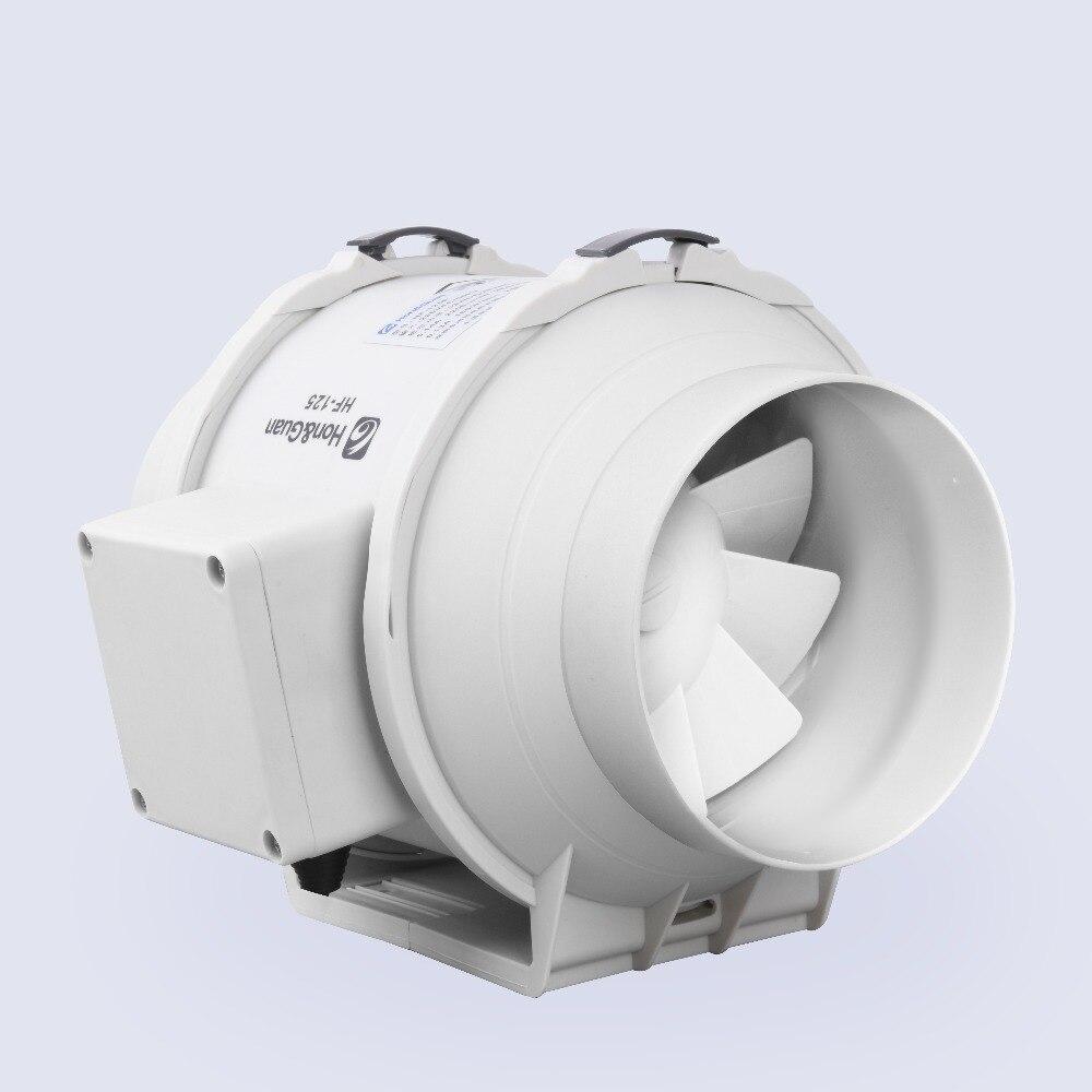 E-EMS Бесплатная доставка 5 дюймов 5 honguan вентиляции Системы 125 мм встроенный вентилятор hf-125p 110 В/ 220 В смешанного потока inline протока вентилятор