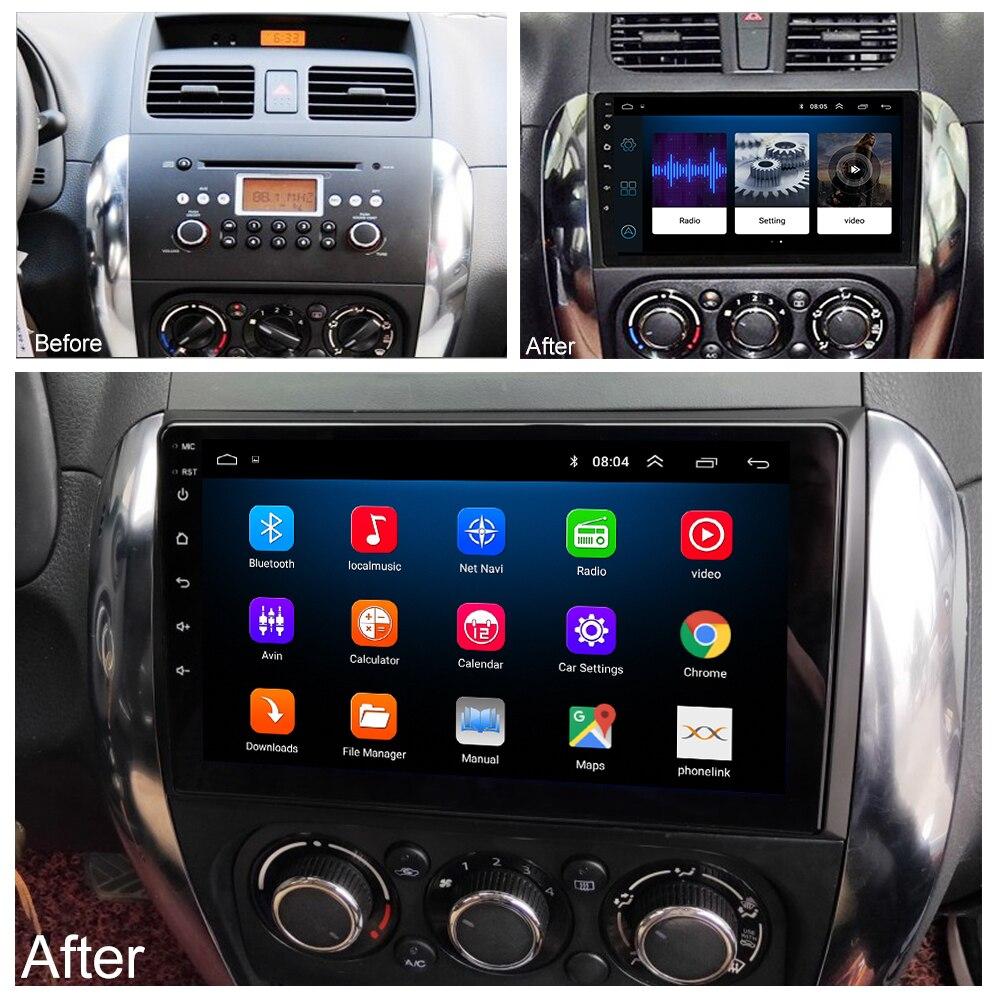 LEHX 2.5D IPS Screen Car Radio Player For Suzuki SX4 2006 2007 2008 -2011 2012 2Din Android 8.1 Multimedia GPS Navigation Player