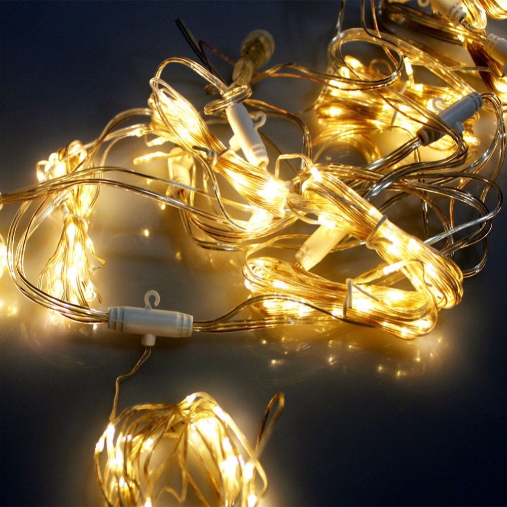 Curtain Fairy String Light 300LED 3x1/3x2/4x2m For Home Balcony Holiday Festivals Wedding Party Decoration
